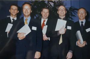 Van links naar rechts: Lindenbergh, Kremer, Tromp, Van Haastert en De Vries